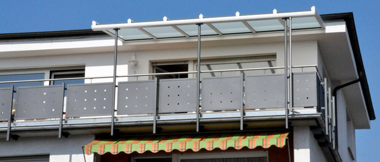 Geländer mit Sichtschutz Modell Fulda