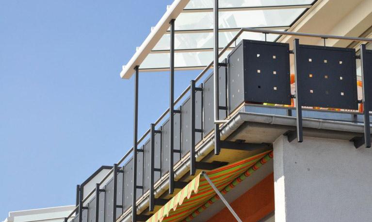 Balkonmetallgeländer Modell Fulda
