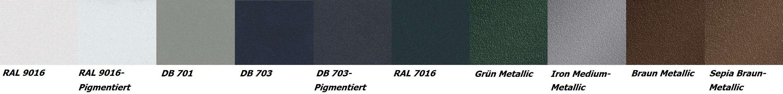 RAL Farben für Carports